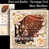 Roses and Baubles - Decoupage Card