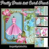 Pretty Dress 8x8 Card Front