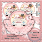 Wedding Bears Scalloped Rocker Card