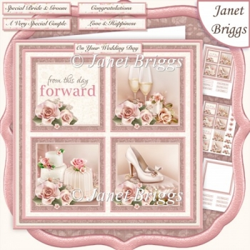WEDDING DAY ELEGANCE SQUARES 7.5 Quick Layer Card & Insert Kit