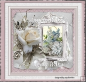 Rose and forgetmenots 7x7 card