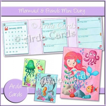 Mermaid & Friends Mini Diary