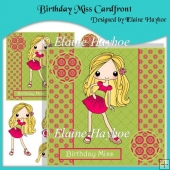 Birthday Miss Cardfront with Decoupage