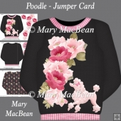 Poodle - Jumper Card