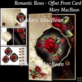 Romantic Roses - Offset Front Card