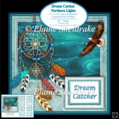 Dream Catcher Northern Lights Native American 6 x 6 Card Topper