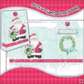 Joyfull Santa Pinch Bag Download