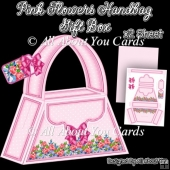 Pink Flowers Handbag Gift Box