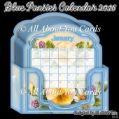 Blue Pansies Calendar 2016