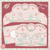 Parasol Girls & Butterflies - Wrap Around Shaped Gatefold Card