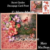 Secret Garden Decoupage Card Front