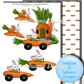 Easter Transport Decoupage Sheet