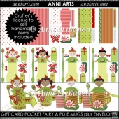 Gift Card Pocket Fairy & Pixie Mugs plus Envelopes