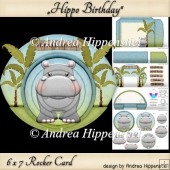 Rocker Card Hippo with Envelope
