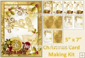 Spirit Of Christmas Card Making Kit with inserts, decoupage