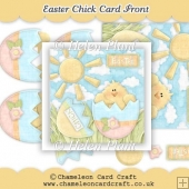 Easter Chick Card Front & Decoupage