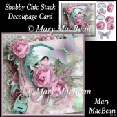 Shabby Chic Stack Decoupage Card Front