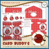 DL Red Bauble Cracker Card Kit