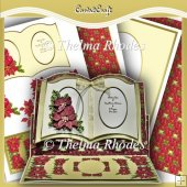 Christmas Book Easel Card