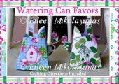 Rose Garden Watering Can Party Favors Set