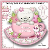 Teacup Bear And Bird Rocker Card Kit