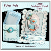 Polar Pals - Scalloped Easel Card