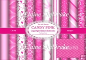 Assorted A4 Candy Pink Backing Papers for Cards,Scrap,Papercraft