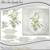 Lillies & Lace Sympathy Decoupage Card Front