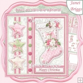 PASTEL CHRISTMAS STOCKING 7.5 Decoupage & Insert Kit