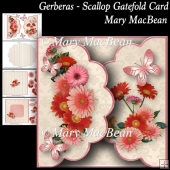 Gerberas - Scallop Gatefold Card