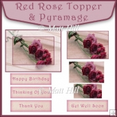 Red Rose Topper and Pyramage