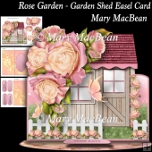 Rose Garden - Garden Shed Easel Card