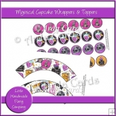 Mystical Cupcake Wrappers & Toppers