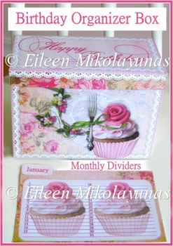 Birthday Organizer Box with Monthly Dividers