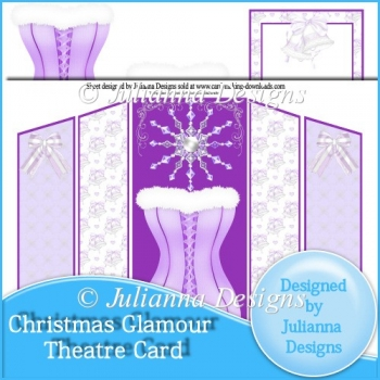 Christmas Glamour Theatre Card