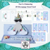 You're Llamazing 3D Decoupage Easel Card Kit