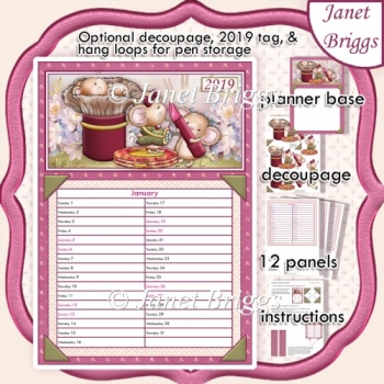2020 Daily Planner More Lip Gloss Please Decoupage Kit