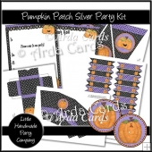 Pumpkin Patch Silver Party Set