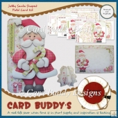 Jolly Santa Shaped Fold Card Kit