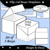Flip Lid Boxes Templates
