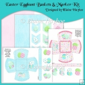 Easter Egghunt Baskets & Egg-Marker Kit
