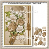 Coffee And Cream Bouquet Card Front
