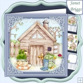 THE GARDEN OR ALLOTMENT SHED 7.5 Decoupage & Insert Kit
