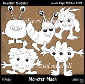 Monster Mash Colour Your Own Reseller Clipart