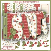Santa Glad Tidings Word Book