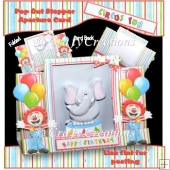 Circus Fun Aperture Stepper Card