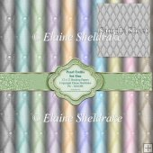 Pearl Trellis Faux Fabric Papers Set One - Ten 12 x 12 - PU - 30