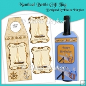 Nautical Bottle Gift Tag