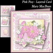 Pink Posy Layered Card
