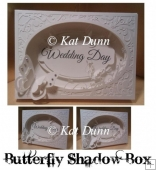 Butterfly Shadow Box SVG Cutting Mchine File